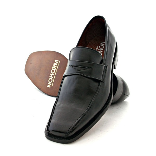 Vegan Slip-on Shoes by NOHARM Black slip-on shoe - NOHA3222
