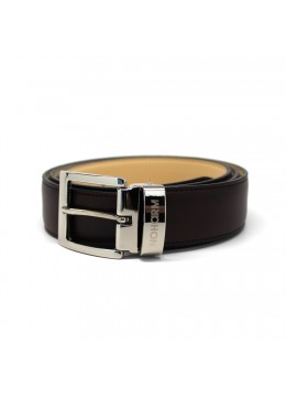 Black NOHARM Vegan Belt. Made in Italy
