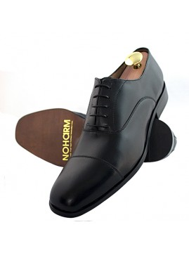 Straight Cap Vegan Black Oxford Shoes NOHA3345