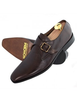 NOHARM Vegan Brown Monk Strap Shoe - NOHA3348