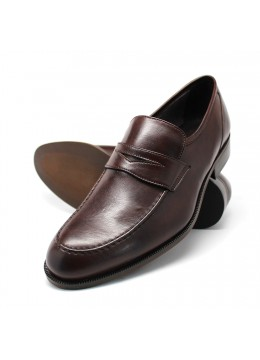 NOHARM Brown Vegan Penny Loafer. Made in Italy