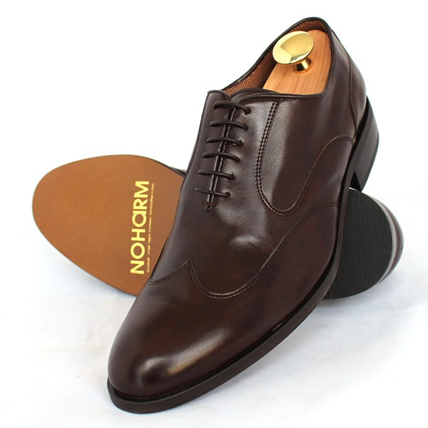 NOHARM Vegan Brown Wingtip Shoe in Oxford Style NOHR1965