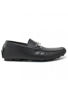 NOHARM Black Vegan Driving Moccasin. Made in Italy