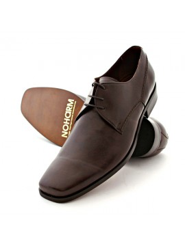 NOHARM vegan lace-up shoes Traditional Brown Lace up Vegan Shoe NOHA3240