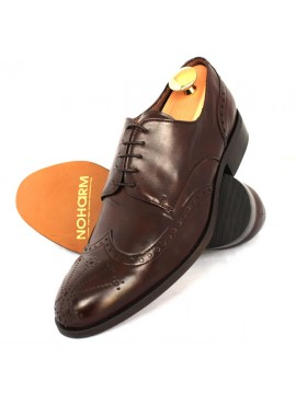 NOHARM Traditional Brown Brogue Vegan Shoe NOHR4484