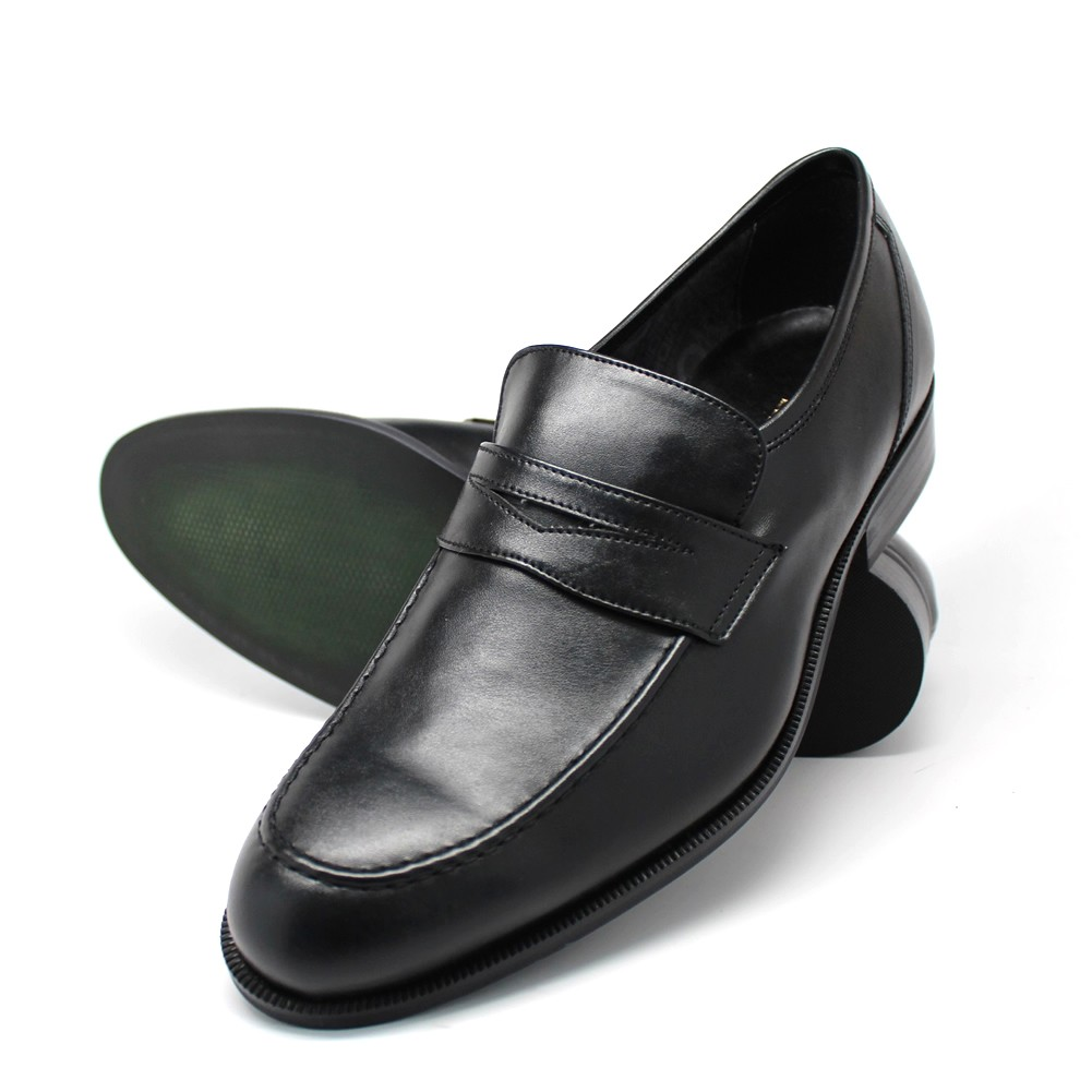 NOHARM Black Vegan Penny Loafer. Made in Italy