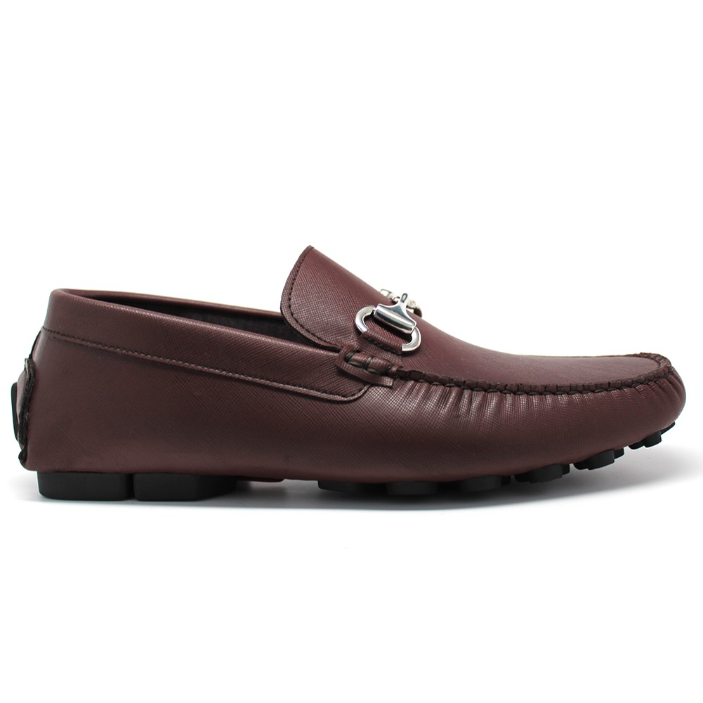 NOHARM Brown Vegan Driving Moccasin Shoe. Made in Italy