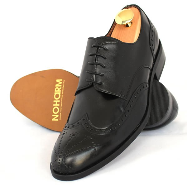NOHARM Traditional Black Brogue Vegan Shoe NOHR4480