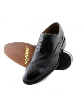 NOHARM vegan shoes Traditional Black Brogue Vegan Shoe NOHR1962