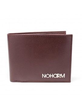 Brown NOHARM Billfold Vegan Wallet. Made in Italy